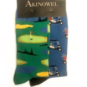 Golf Socks 2 Pair Set Unisex
